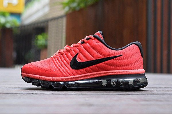 nike air max 2017 red and black