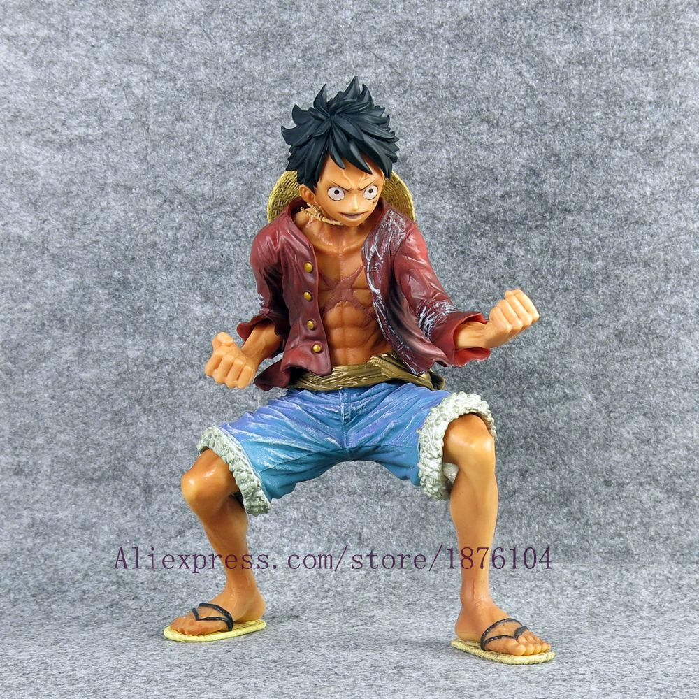 Anime One Piece Heroes Monkey•D•Luffy 18cm PVC Action Figure No Box Boys Toy Anime & Manga