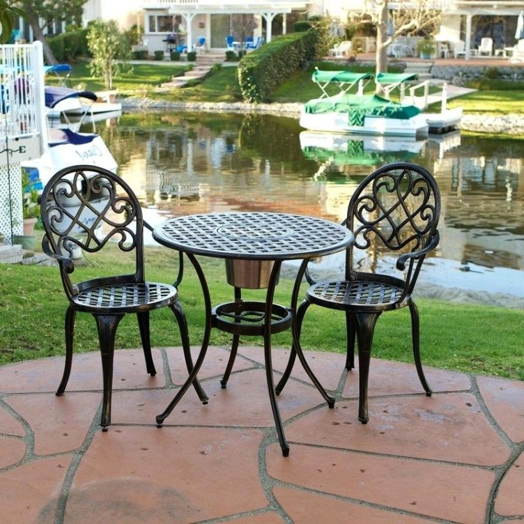 Lovely 3 Piece Bistro Patio Set Target 2 3 Piece Outdoor B