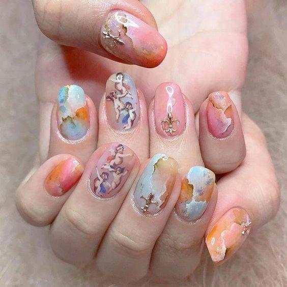 Inspirerende ovale nail art-ideeën