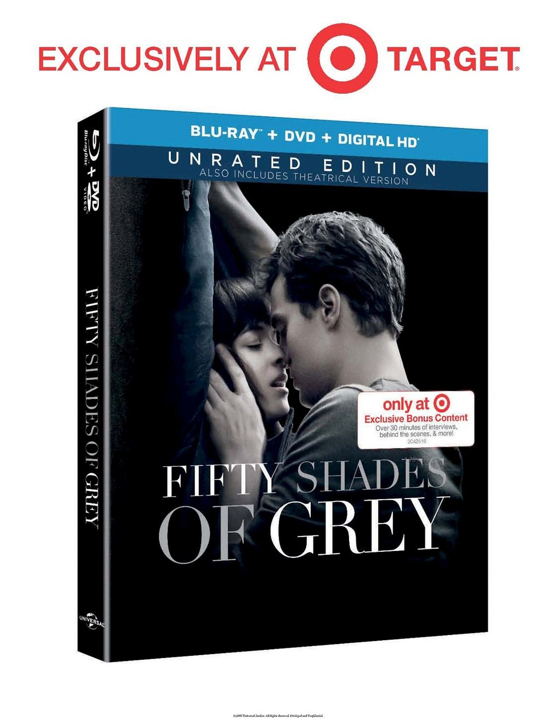 Fifty shades of grey bluraydvd target exclusive
