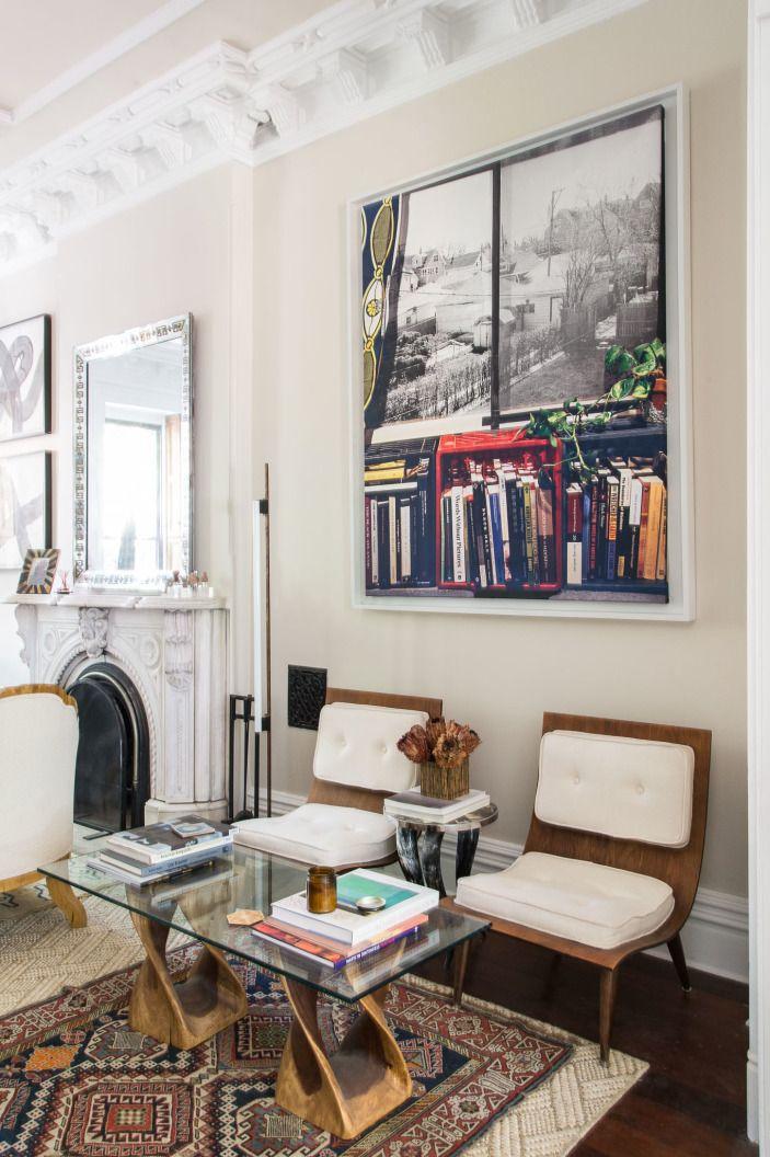 Our Designer S Brooklyn Brownstone Dream Brownstone Interiors Chic Living Room Brooklyn Brownstone