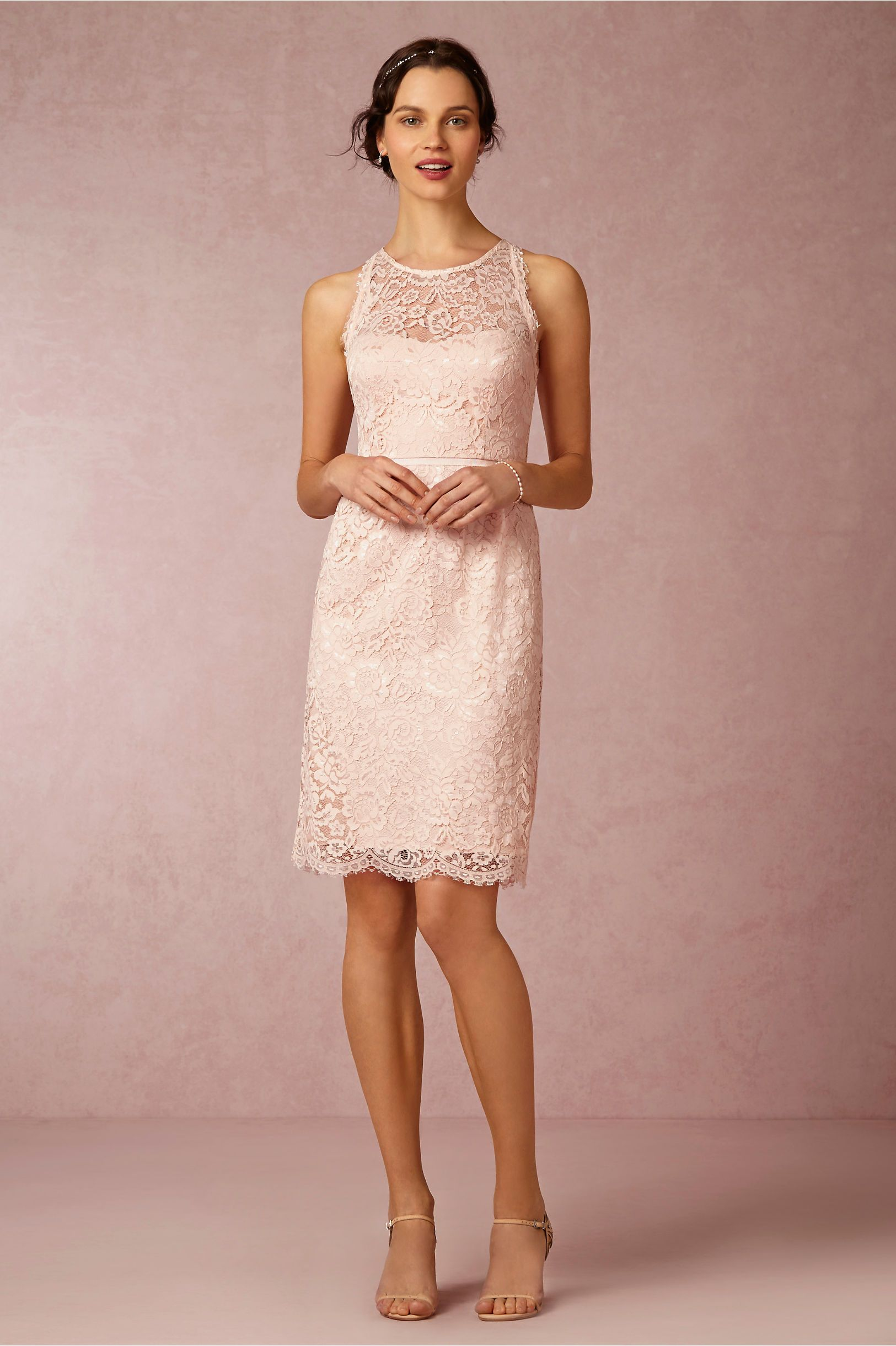Pink cocktail dress for wedding  and the navy would go with the kilt  Sloane Dress from BHLDN