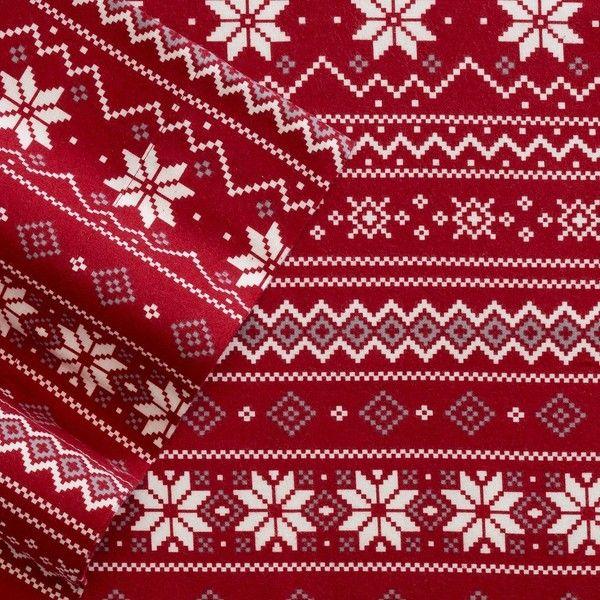 Cuddl Duds Flannel Sheet Set FULL (Fair Isle) ($24) ❤ liked on ...