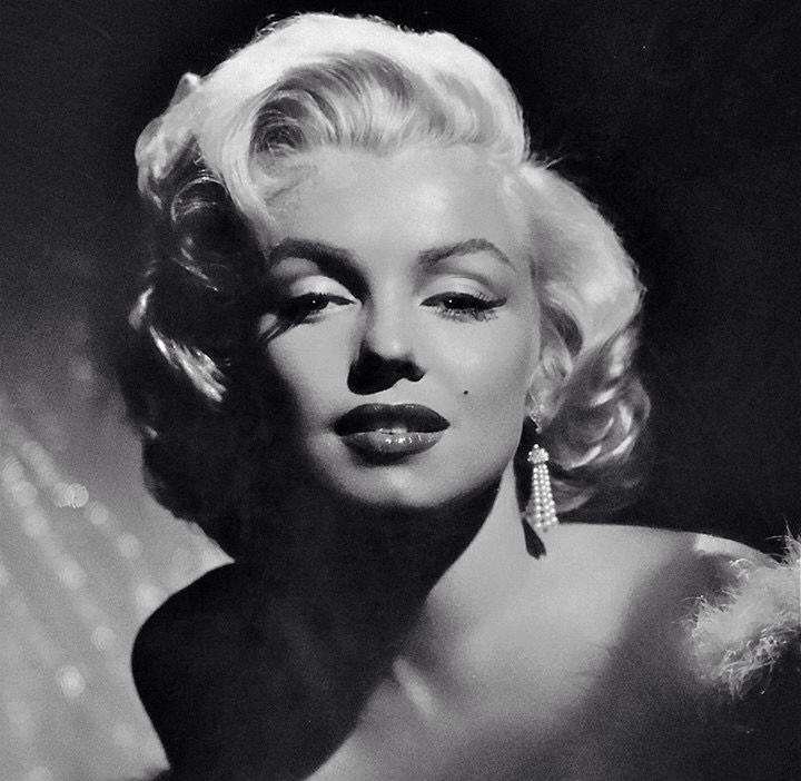 Marilyn Monroe Schwarzweiss-Schablone | Marilyn Monroe
