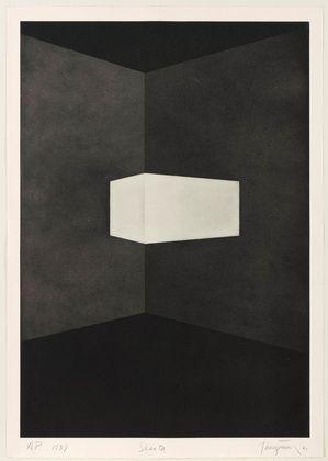 James Turrell • Shanta from First Light, 1989-90 • Aquatint