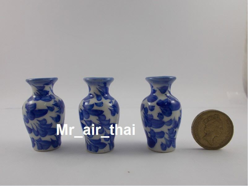 Dollhouse Miniature Set of 2 Stoneware Vases