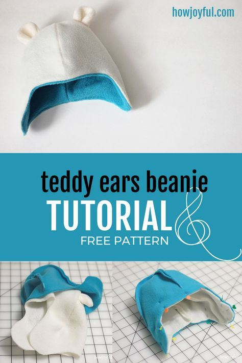 Photo of How to make a baby beanie with teddy bear ears – Tutorial and pattern | HowJoyful