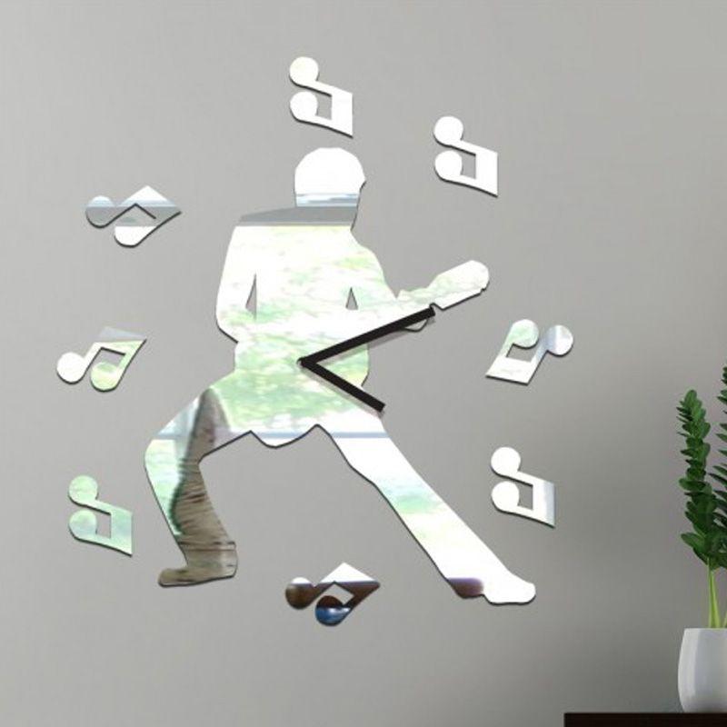 HODINY | Luxusné zrkadlové hodiny LÁSKA | SilaPyramidy | veľké 3D nástenné hodiny