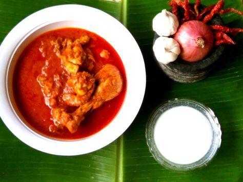 Garlic Red Chicken Gravy Recipe