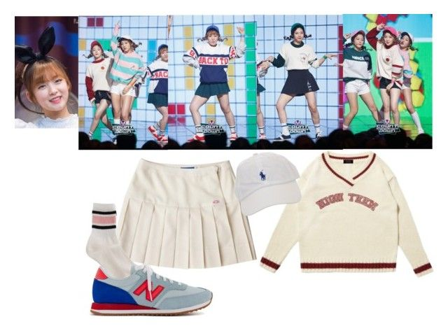 """""""Red Velvet - Dumb Dumb"""" by rv-ohmygirl ❤ liked on Polyvore featuring OiOi and New Balance"""