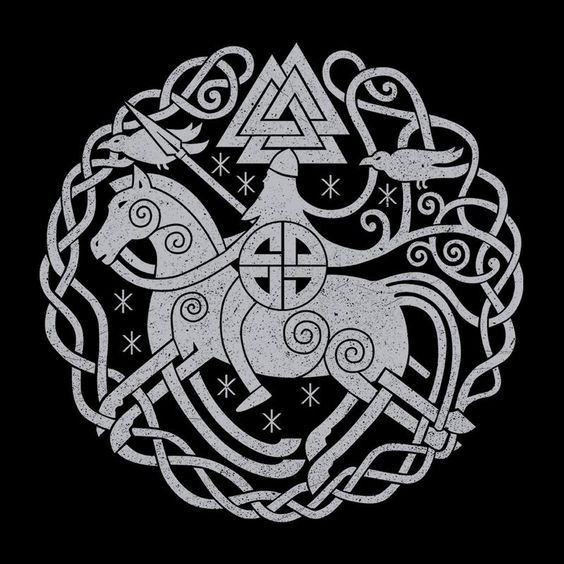 ... Odin Norse Viking Symbols Men's T-Shirt by Retro Freak - Cloud City 7 ...