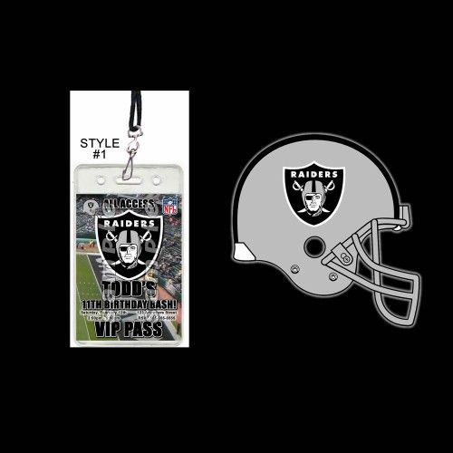 Oakland Raiders Set of 12 VIP Party Invitation Passes or Party