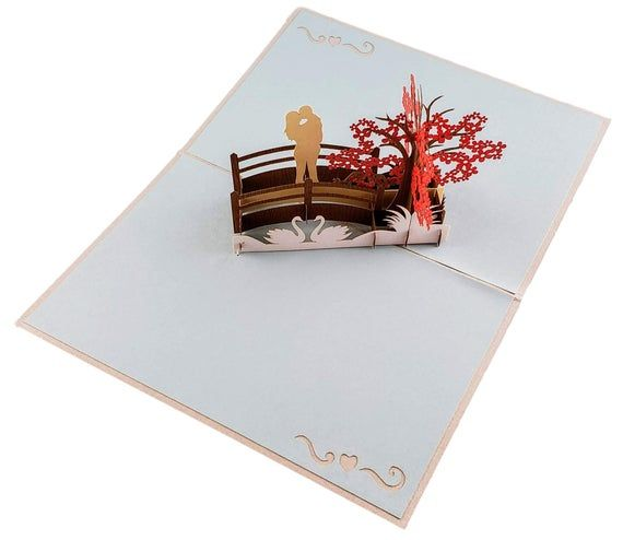 Happy 20th Anniversary 3D Pop Up Greeting Card - Marriage, Soulmates, Celebration, Wedding, Celebrat #20thanniversarywedding