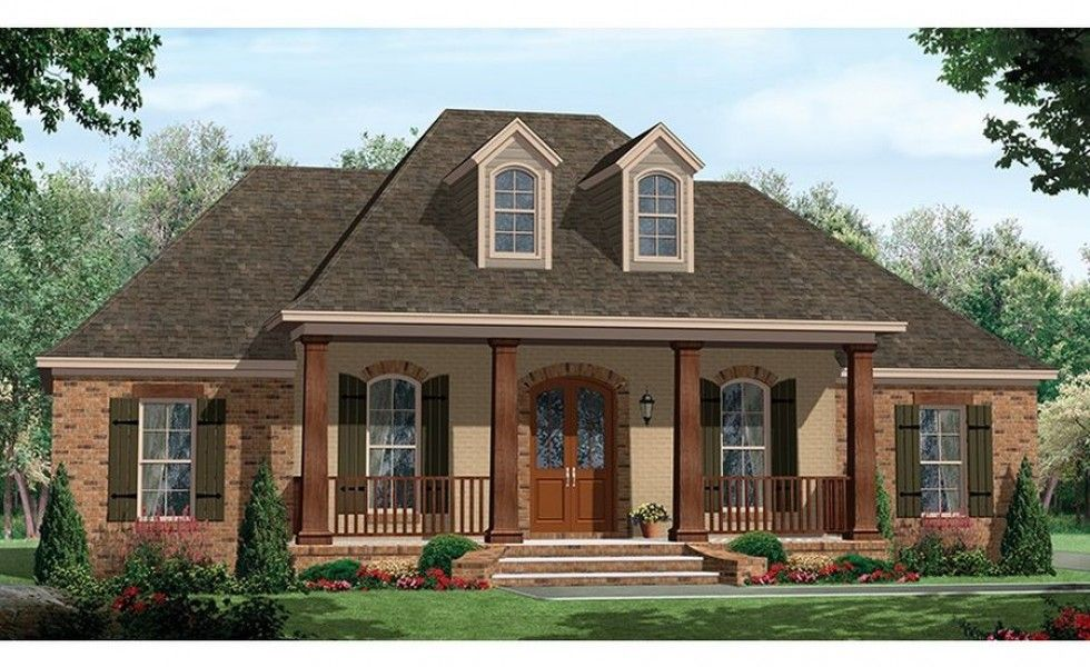 Single Story Homes With Porch One Story House Plans With