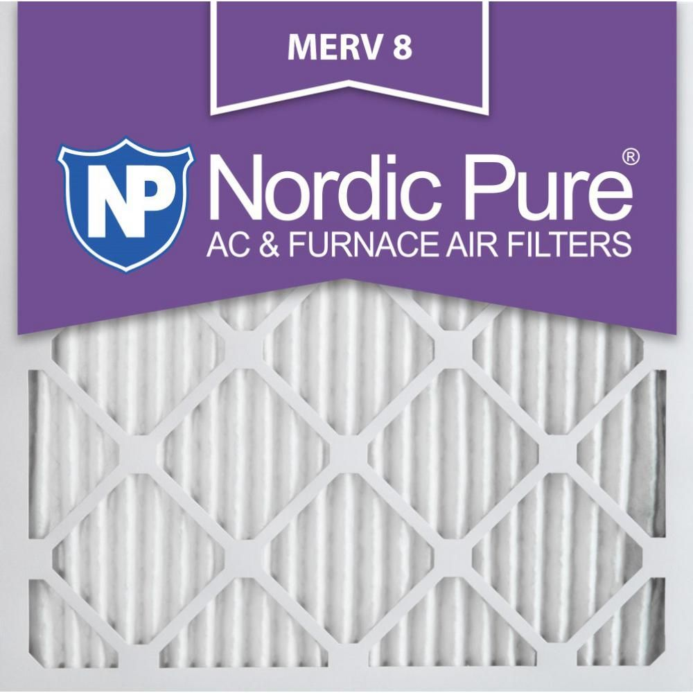 Nordic Pure 10 In X 10 In X 1 In Dust Reduction Pleated Merv 8 Fpr 6 Air Filters 6 Pack Furnace Filters Pure Products Electrostatic Air Filter