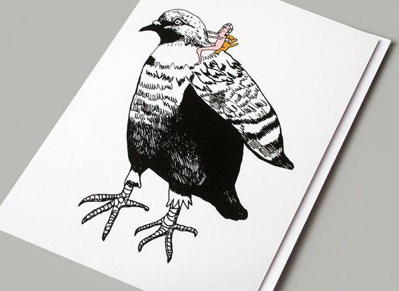 Art card whimsical pigeon bird illustration pigeon card art card whimsical pigeon bird illustration pigeon card birthday card greeting card arty card art greeting card pigeon ride bookmarktalkfo Images