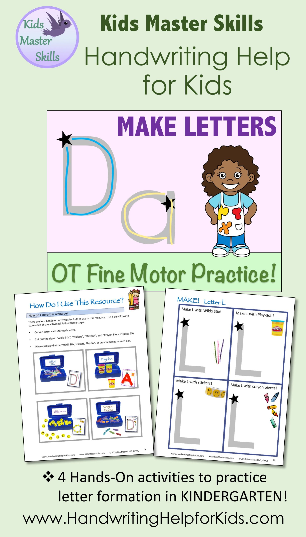 Kindergarten Amp Preschool Handwriting Make Letters