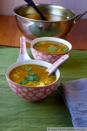 Thai Turkey Egg Drop Soup Recipe