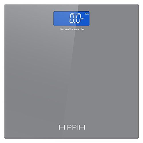 Hippih Electronic Bathroom Scale With Tempered Right Angle Gl Balance Platform And Advanced Step On Technology Digital Weight Has Large Easy