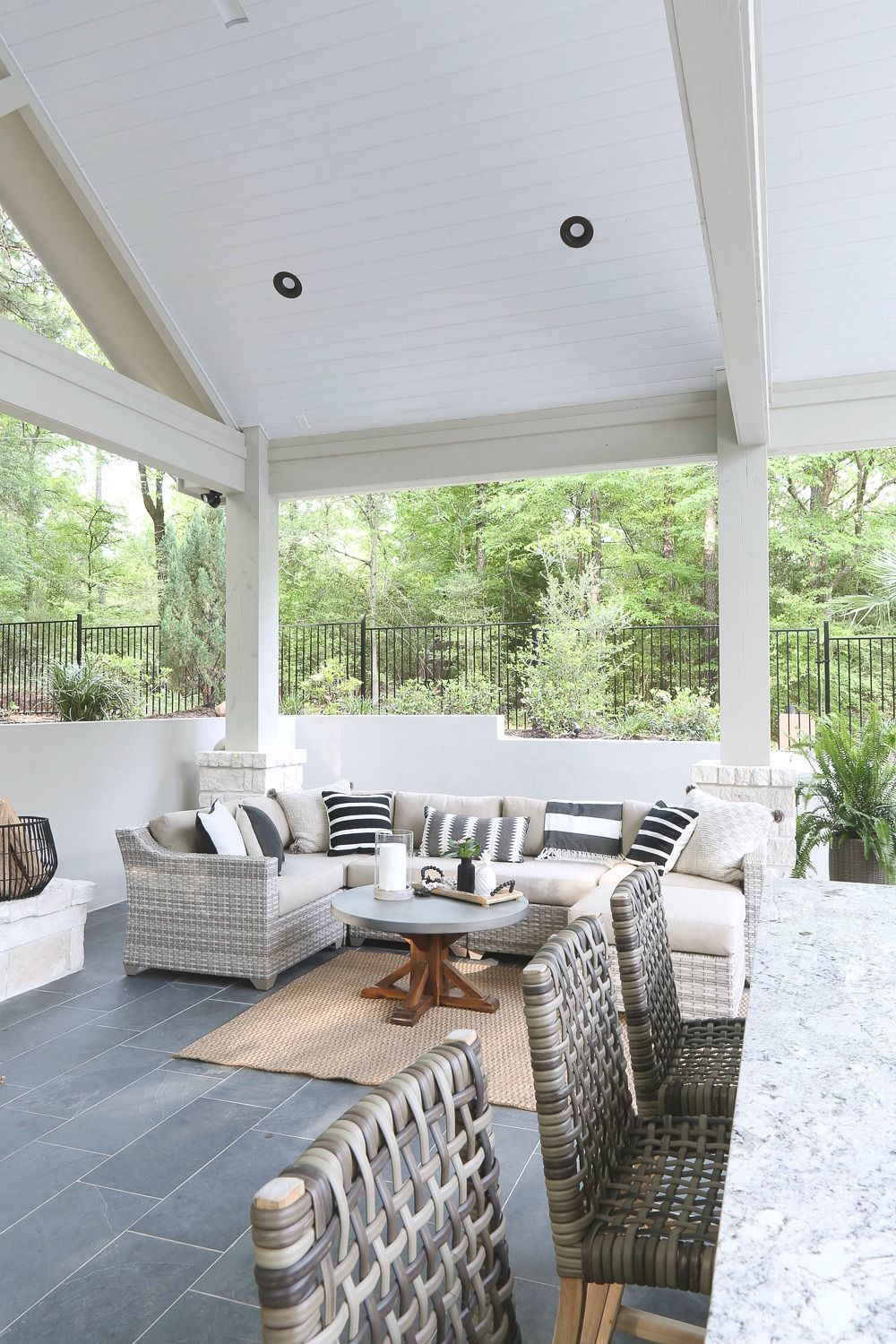outdoor kitchen and pool house project reveal | outdoor