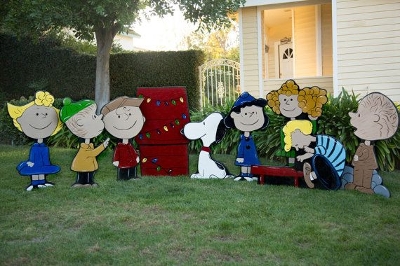 charlie brown christmas lawn decorations - Peanuts Christmas Lawn Decorations