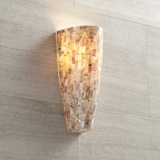 Mother Of Pearl Mosaic Possini Euro Design Wall Sconce Euk6810