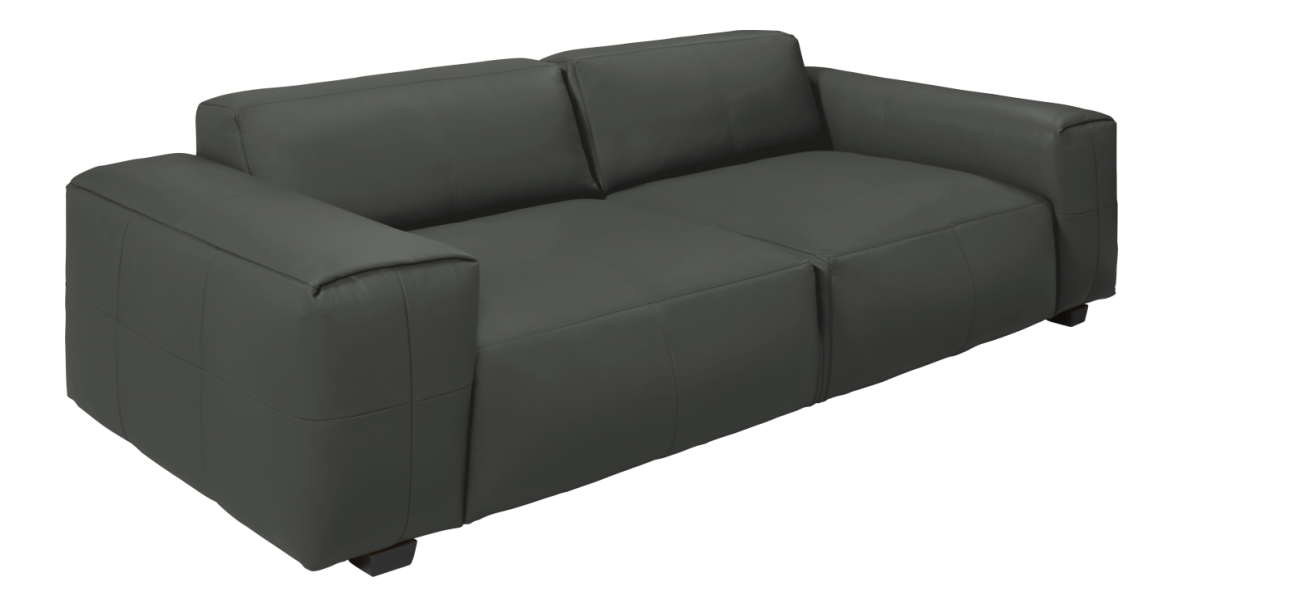 Posada 2 Sitzer Sofa Aus Savoy Leder Anthrazit 2 Sitzer Sofa Sofa Und Armlehnen