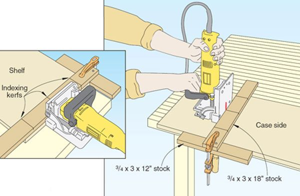 T Square Biscuit Joiner Jig I Fashioned A Special T Square Shown
