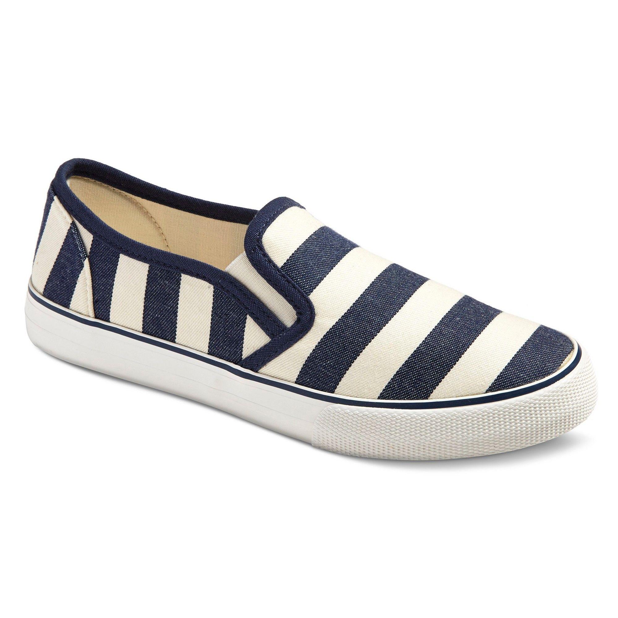 Women s Loretta Sneakers Mossimo Supply Co Navy Stripe 9 Blue