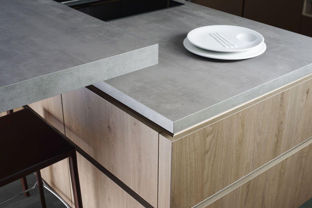 Arbeitsplatte aus beton  Geteilte Eckwange, Arbeitsplatte in beton | Küche | Pinterest ...