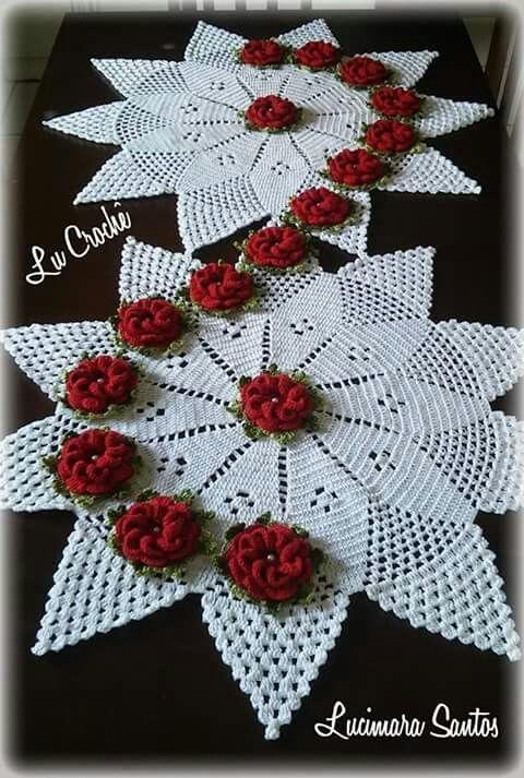 Pin de A E en Camino de mesa crochet | Pinterest | Carpeta ...