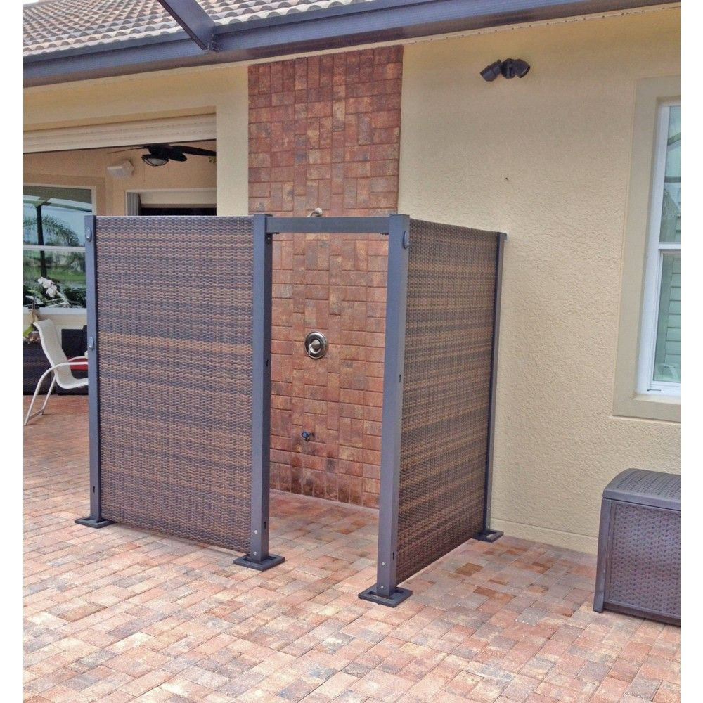 Fully configurable outdoor wicker partition system is perfect for backyard,  porch, and garden use.