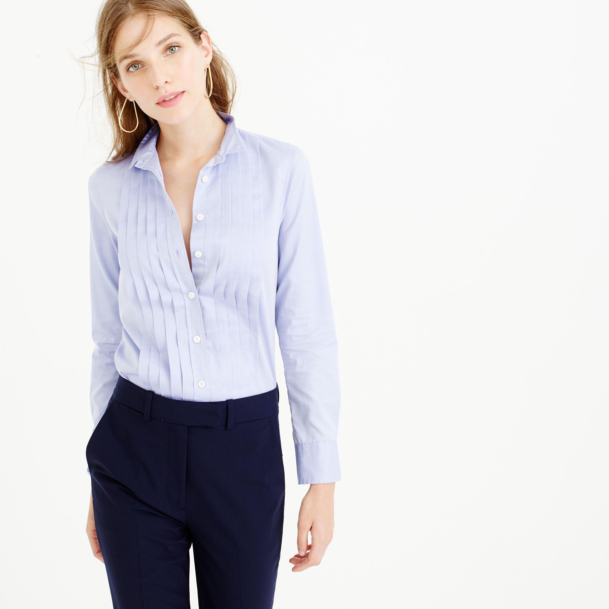 Thomas Mason® for J.Crew tuxedo shirt in blue  09a6616da