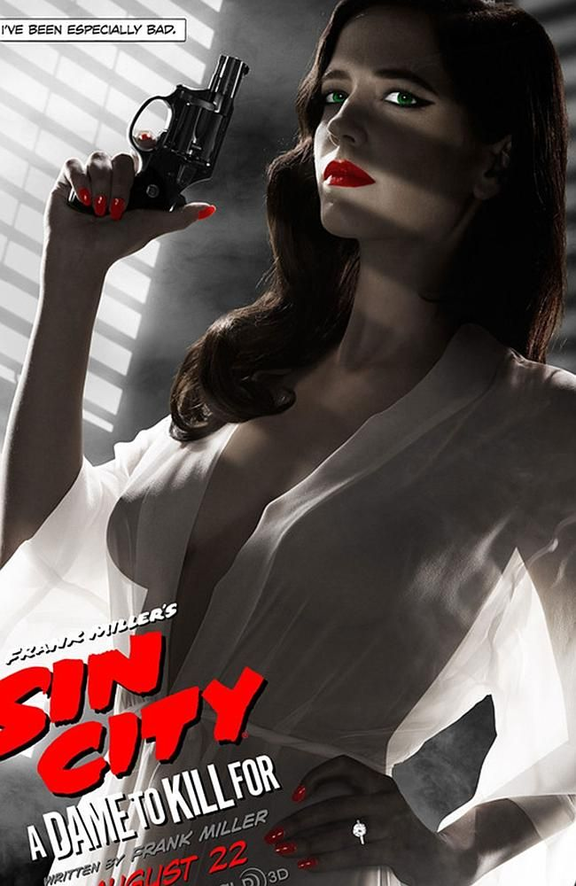 Too Sexy Eva Greens Sin City 2 Poster Banned  Books -5490