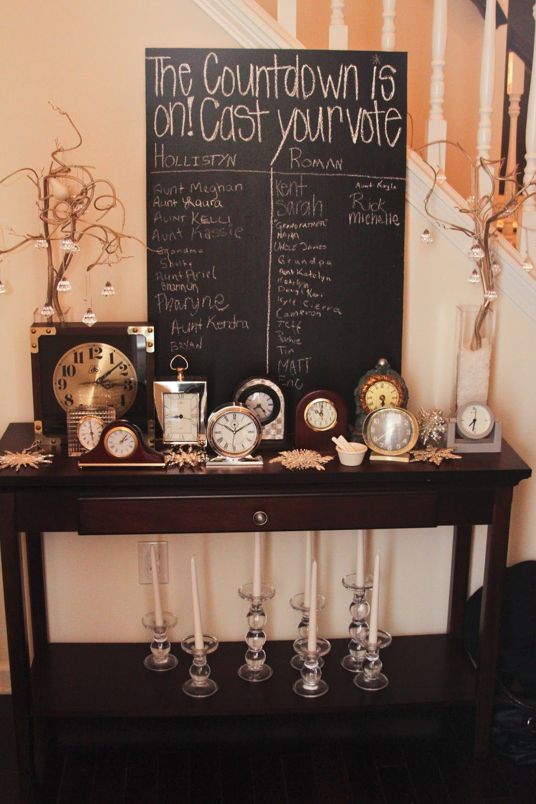 New Years Eve Gender Reveal Party With Hot Chocolate Bar