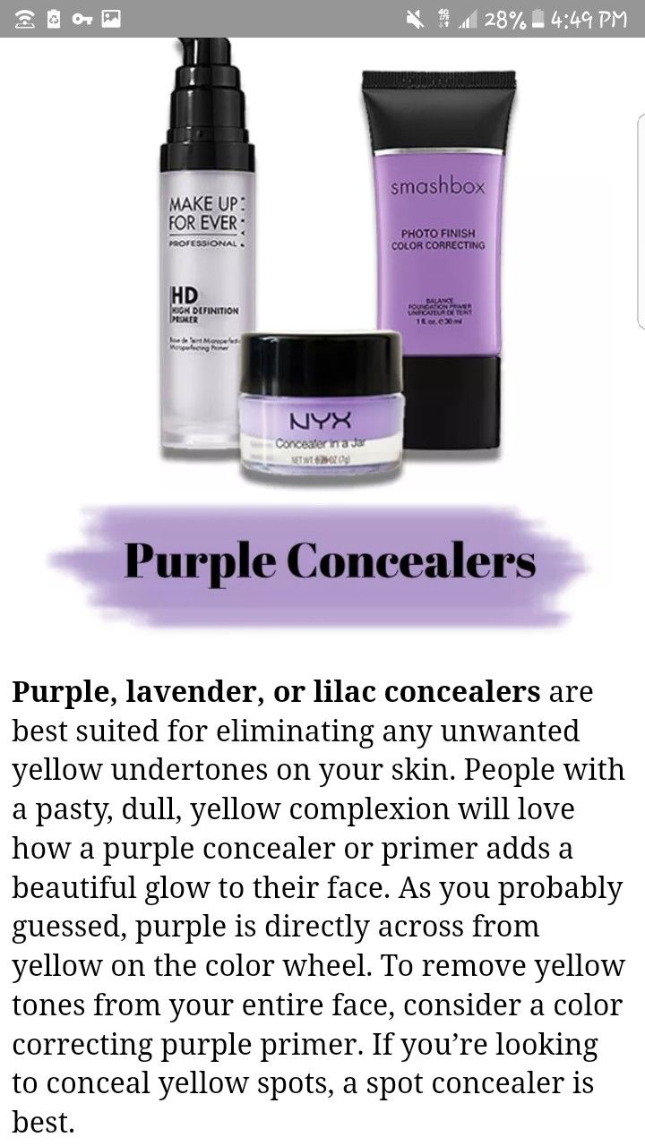 Pin by Angel Rødriguez on Fashion Purple concealer, Love