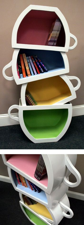 Teacup Bookshelf At Weyley