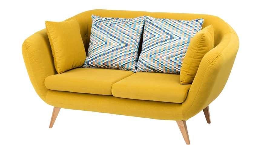 Smart Gelbes Retro Sofa Ricarda Gefunden Bei Mobel Hoffner Https Www Hoeffner De Artikel 17406714 Retro Sofa Sofa 2 Sitzer Sofa