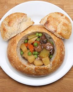Disneyland's Slow-Cooked Beef Stew Bread Bowl (Recreated)