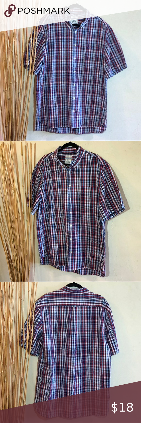 Jos. A. Bank tailored fit plaid shirt sleeve 2XLT in 2020