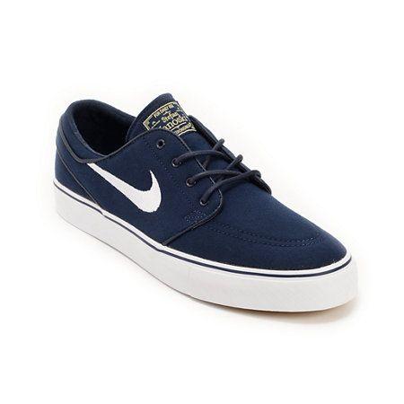 Sermón Hay una tendencia Idear  Nike SB Zoom Stefan Janoski Obsidian, White, & Light Brown Canvas Shoes |  Zumiez | Jordan shoes retro, Mens nike shoes, Nike
