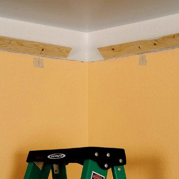 how to install cove lighting. Installing Crown Molding With Uplights - How To Cut \u0026 Install Moldings Carpentry, Cove Lighting