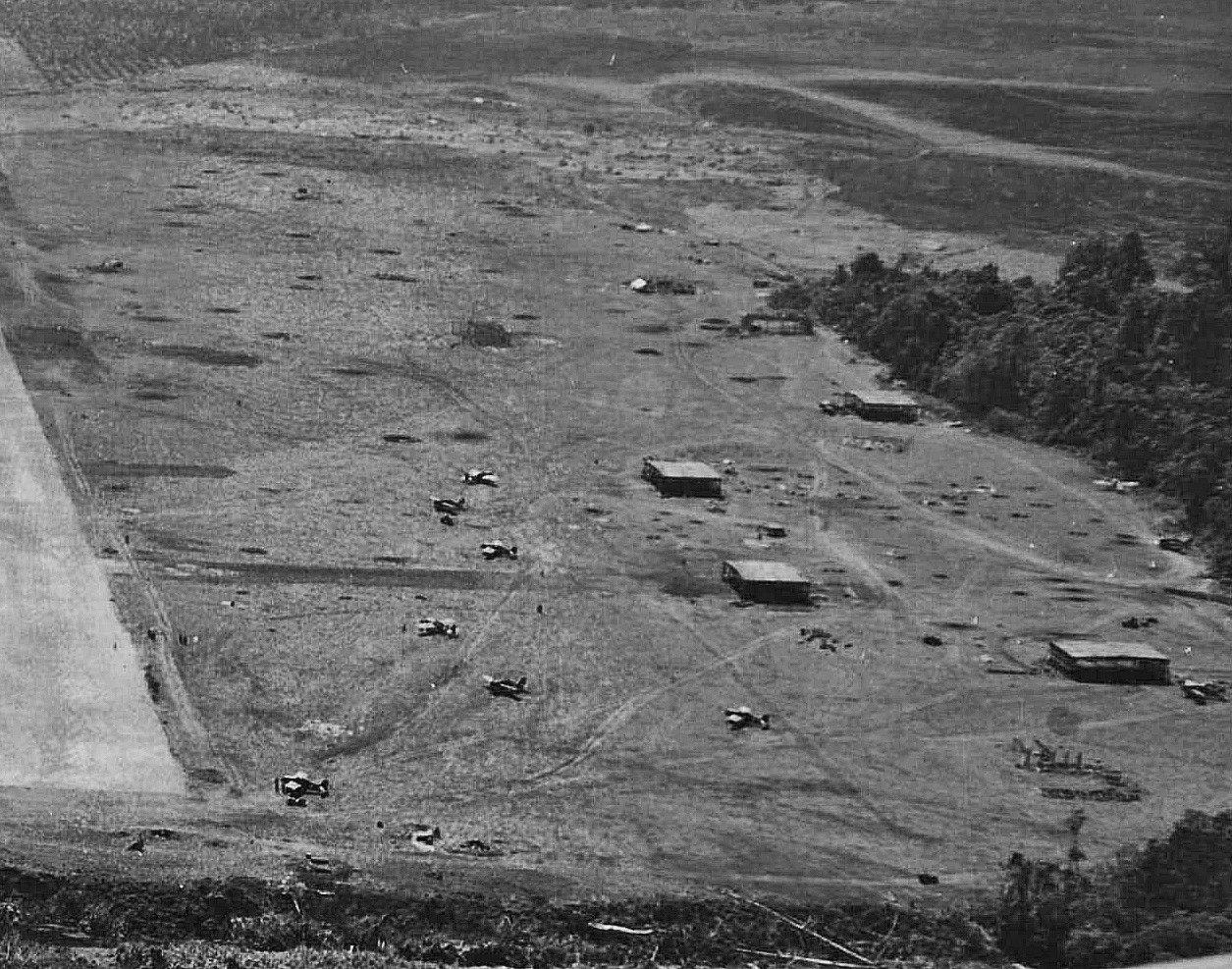 Japanese hangars at Henderson Field