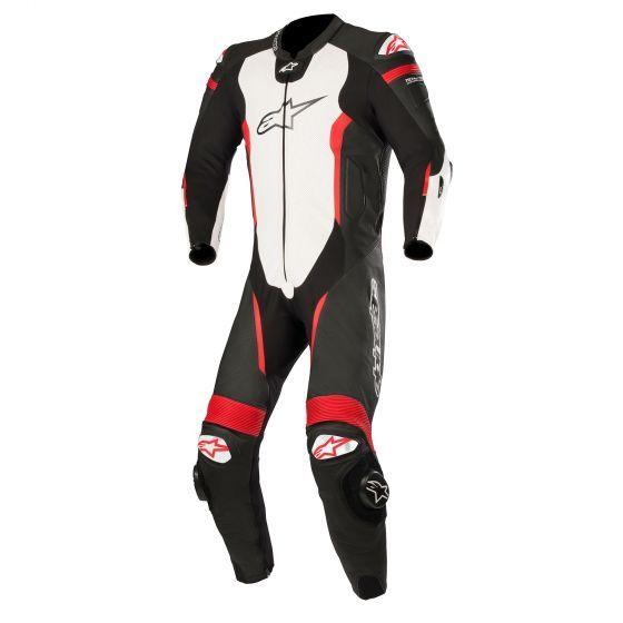 Alpinestars Missile 1 Piece Leather Motorcycle Suit - Tech Air Bag Compatible | Motorcycle suit. Red suit. Suits