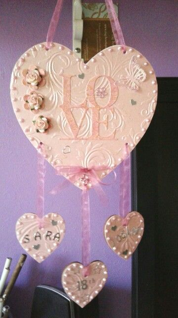 Craft plaque hand made by me !