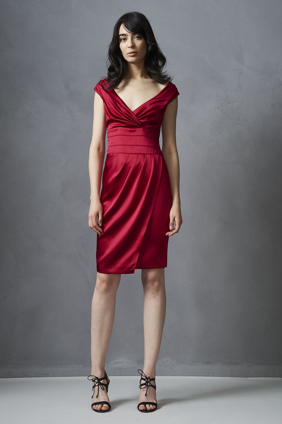 Stretch Satin Cocktail Dress from KAY UNGER | Fashion Flair Jewelry ...