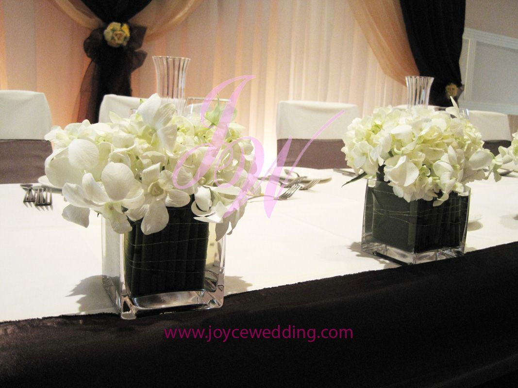 Orchid head table centerpieces tables