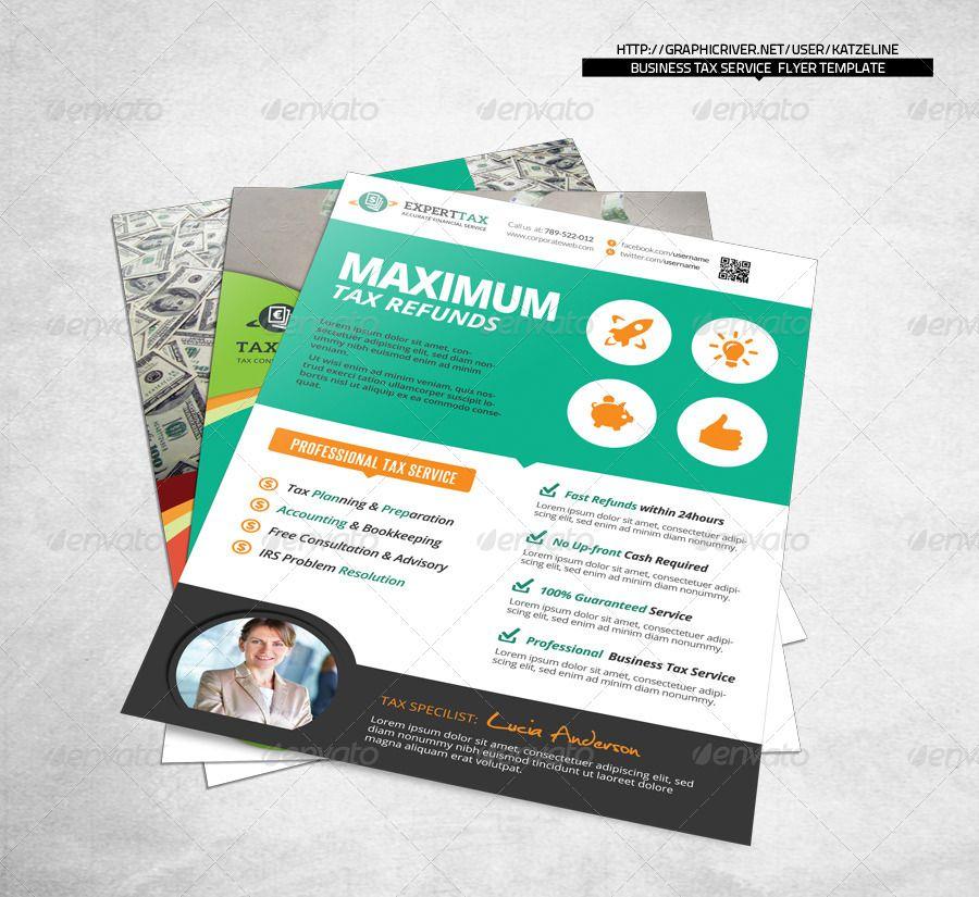 Business Tax Refund Financial Service Flyer Template | Tax Refund ...
