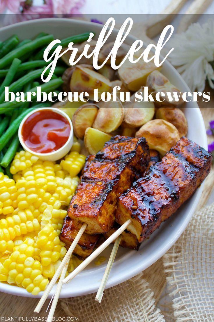 Grilled BBQ Tofu #vegetariangrilling